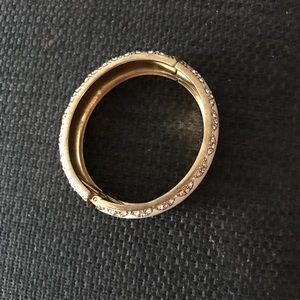 Stella & Dot Jewelry - White enamel bangle bracelet